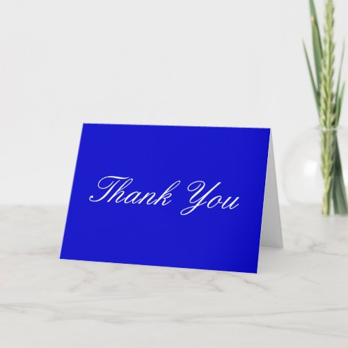 Thank You Blue White Greeting Card