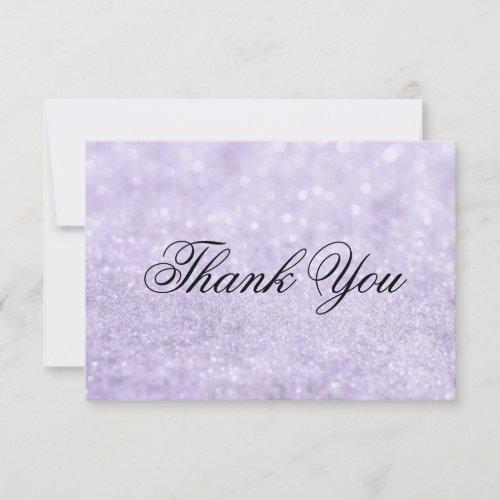 Thank You Card - Lit Purple Glit Fab