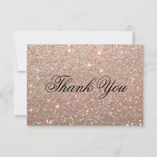 Thank You Card - Rose Gold Glit Fab