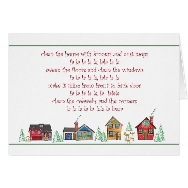 Thank You Christmas Card Maid Or Cleaning Service Zazzle