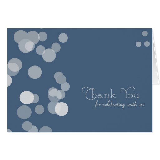 Thank You For Celebrating With Us In Navy Card Zazzle