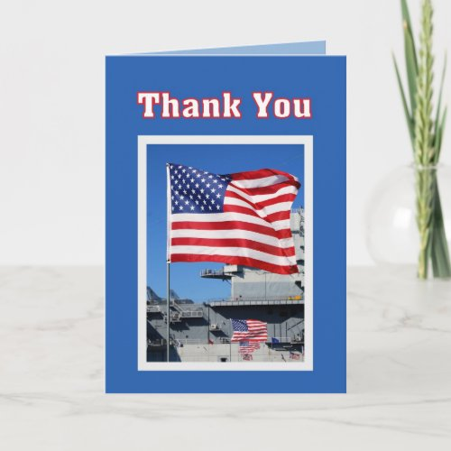 Thank You for Military Service Flags card