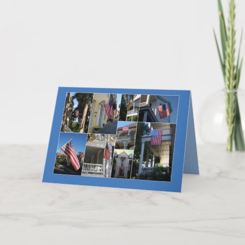 Thank You for Service American Flag Collage card