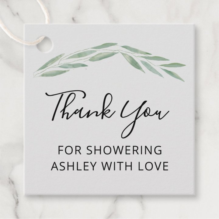 Thank You for Showering Her With Love Favor Tags