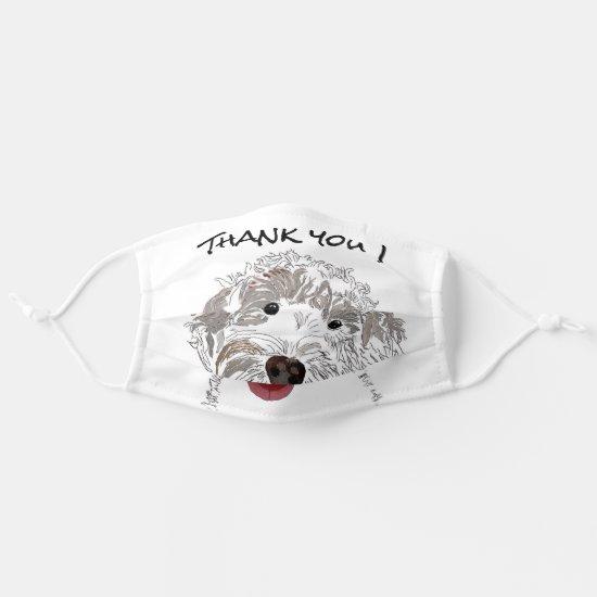 Thank You Labradoodle Cloth Face Mask