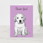 Cute Labrador Puppy Thank You Card