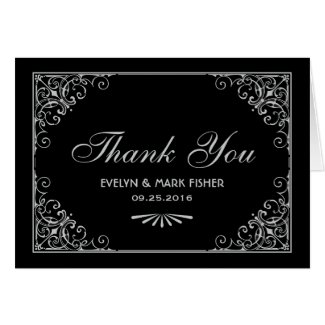 Thank You Note Cards   Art Deco Style