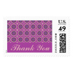 Thank You Pretty Pink Floral Pattern Postage