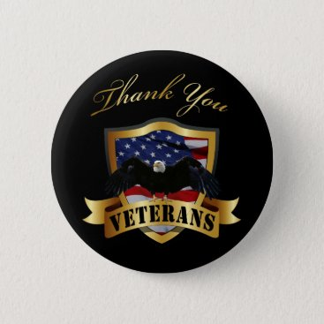 Thank You Veterans Button