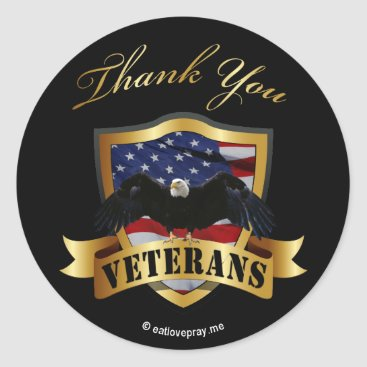 Thank You Veterans - kids wrist stickers