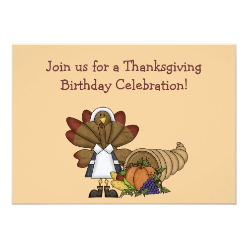 Thanksgiving Birthday Invitation