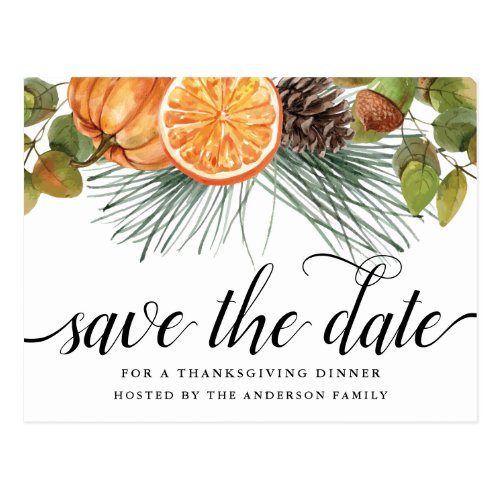 Thanksgiving Save The Date Postcard