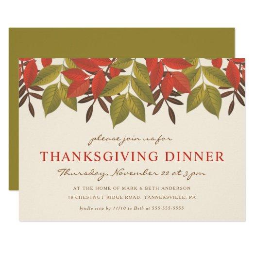 THANKSSGIVING DINNER INVITE | BRIGHT FOLIAGE