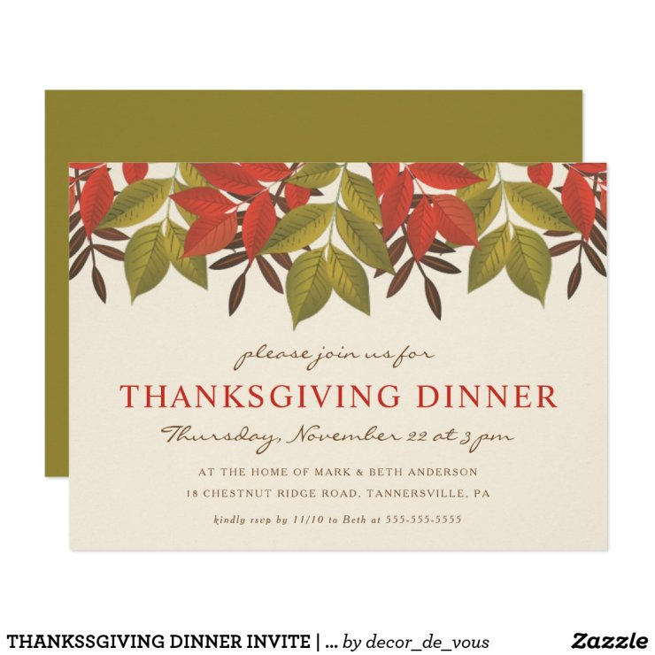 THANKSSGIVING DINNER INVITE | BRIGHT FOLIAGE