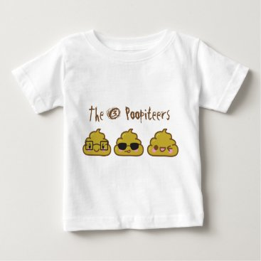 The 3 Poopiteers Baby T-Shirt