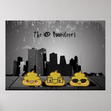 "The 3 Poopiteers ""pooster"" Poster"