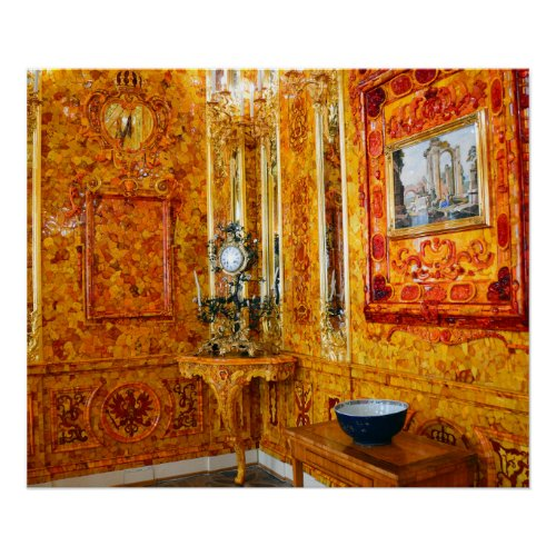 The Amber Room in Catherine Palace, Russia
