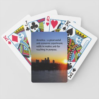 The American Dream Bicycle Playing Cards