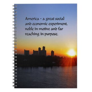 The American Dream Spiral Note Book