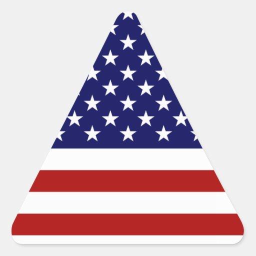 the american flag triangle sticker zazzle