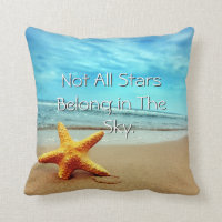 The Beach is my Happy Place Starfish Pillow