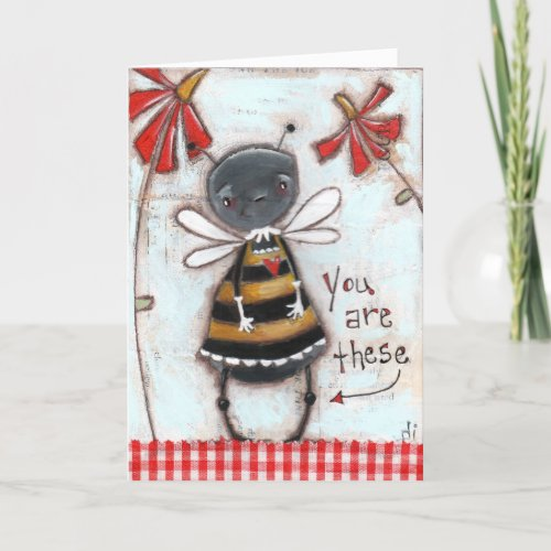 The Bee' Knees - Greeting Card Blank Inside