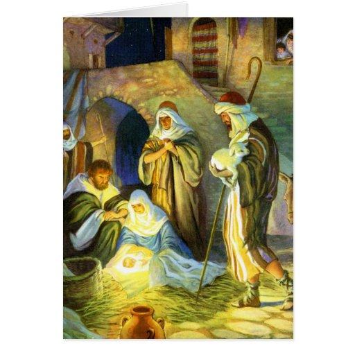 The Birth Of Jesus Christmas Card Zazzle