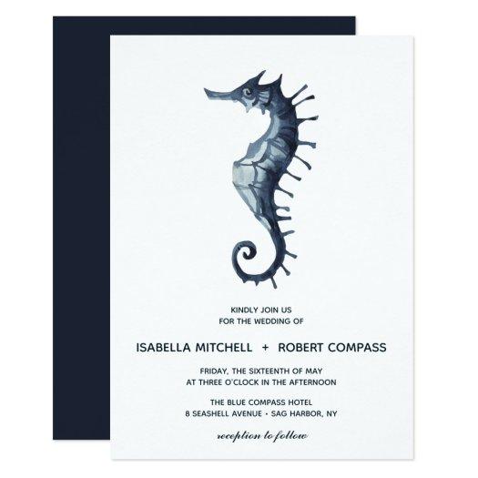 The Blue Seahorse | Wedding Invitation