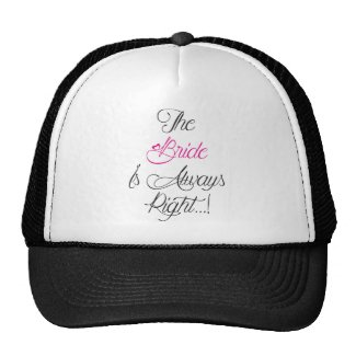 The Bride is always right engagement present Hats