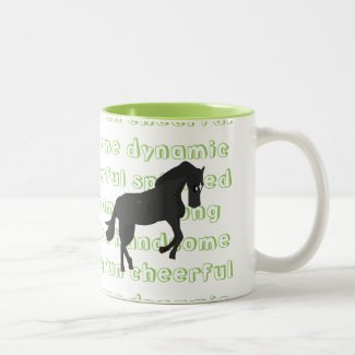 The Characteristic Horse Mug {Green}