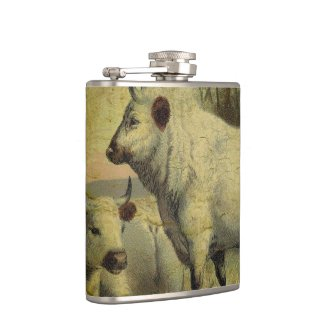 The Cows Came Home Hip Flask