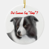 The Customizable Border Collie Herding Ornament