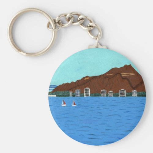 The Diamond Head Key Chain