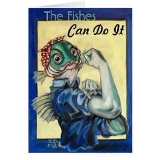 The Fishes Can Do It Greeting Cards