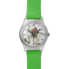 The Frog's Anatomy Illustration Wrist Watch