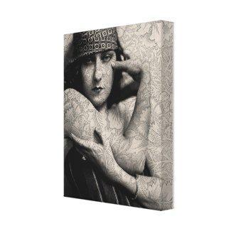 The Gloria Swanson Tattoo Stretched Canvas Print
