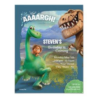 The Good Dinosaur Birthday 4.25x5.5 Paper Invitation Card