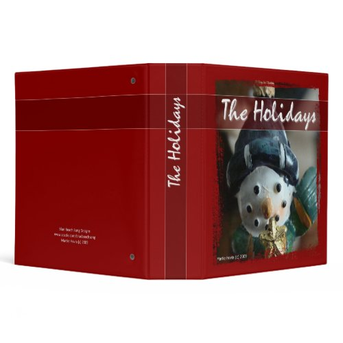 The Holidays - Snowman Binder binder