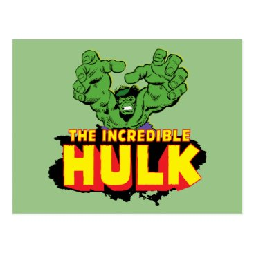 The Incredible Hulk Logo Postcard