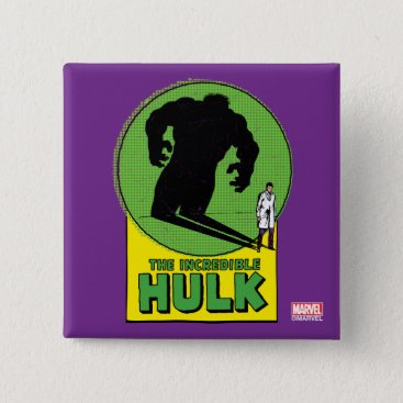The Incredible Hulk Vintage Shadow Graphic Button