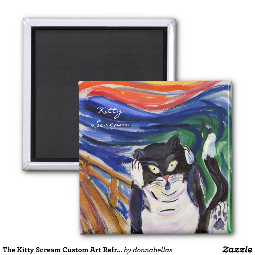 The Kitty Scream Custom Art Refrigerator Magnets