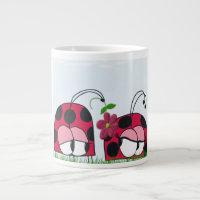 The Ladybug Wooing His New Love ~ Jumbo Mug