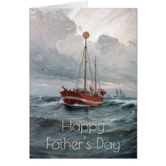 The lightship boat Father's Day Card