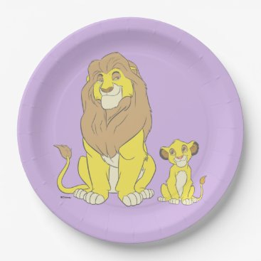 The Lion King   Mighty Kings Paper Plate