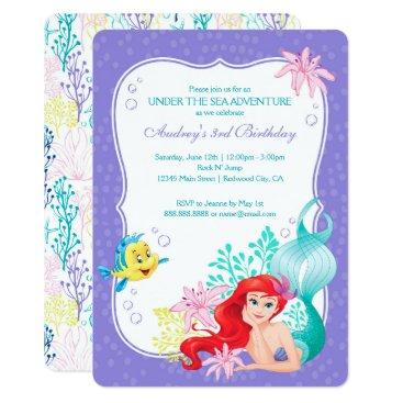 The Little Mermaid | Under the Sea Birthday Invitation