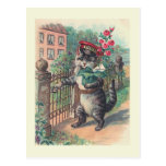 "❤️ ""The Mailman"" Vintage Cat Postcard"