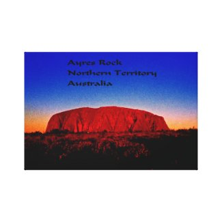 The most sacred monolith in Australian outback Canvas Print