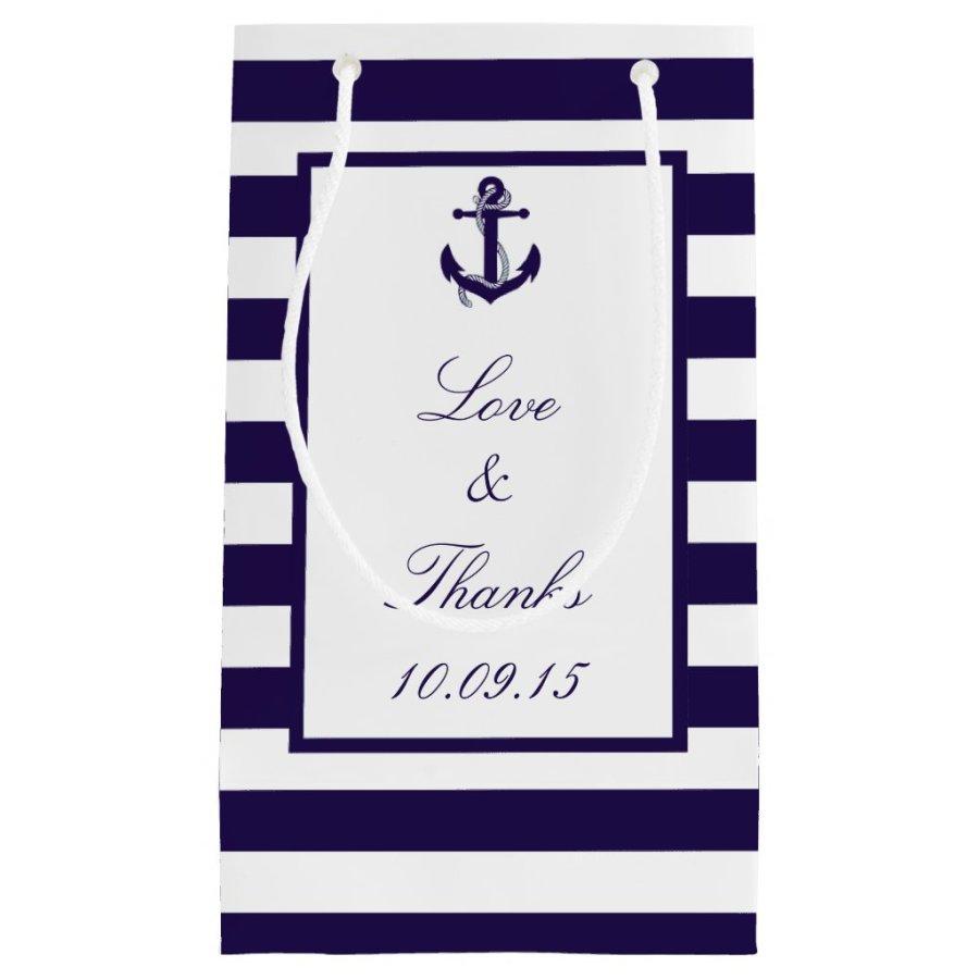 The Nautical Anchor Navy Stripe Wedding Collection