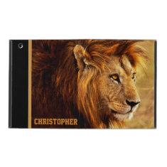 The Noble Lion Photograph iPad Folio Case