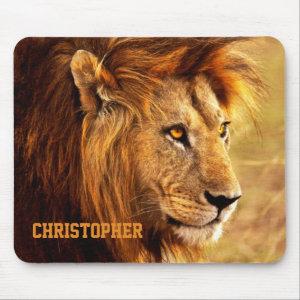 The Noble Lion Photograph Mouse Pad